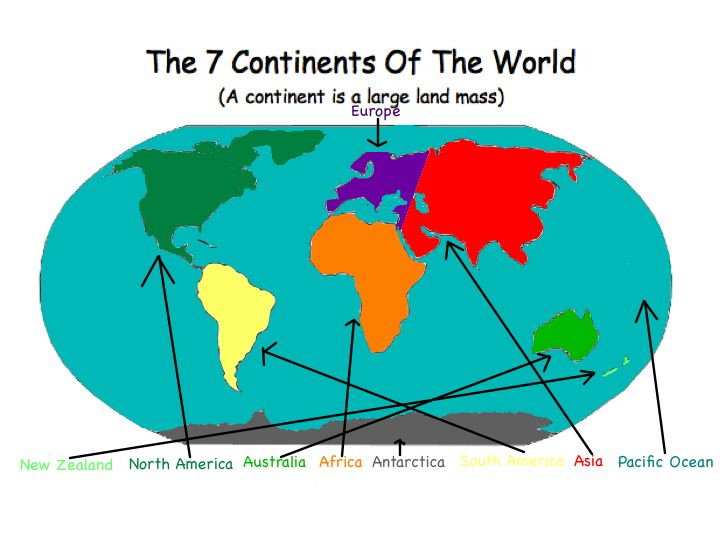 Continents Of The World Brees Blog - Seven continents of the world